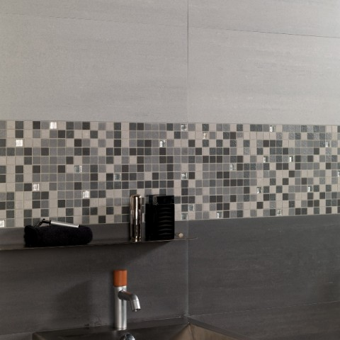 Concept Negro 30X60 mate + Mosaico Mix Concept Frio + Concept Gris 30X60 mate