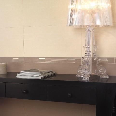 Textil Lino 30X60 mate + Cenefa Verona Lino + Tetil Nacar 30X60 mate